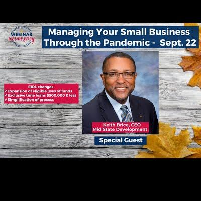 Managing Your Small Business Beyond the Pandemic with guest Keith Brice on new EIDL changes